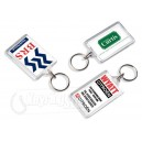 Rectangle Reopenable Clear Plastic Keyrings Keychains
