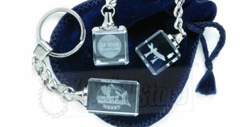 Glass Crystal keyrings