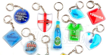 Liquid-filled Keyrings
