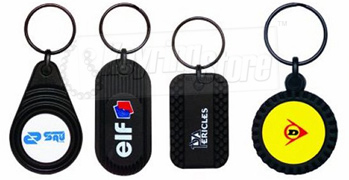 Rubber effect and plastic Keyrings